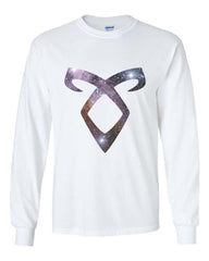 Angelic Power Runes GALAXY Long Sleeve T-shirt for Men - Meh. Geek - 2
