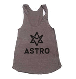 Astro Bw K-pop Triblend Racerback Women Tank Top