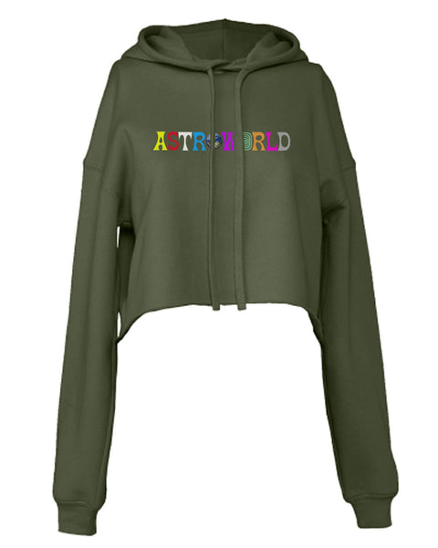 Astroworld Color Cropped Hoodie