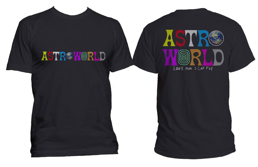 Astroworld front and Back Look mom I can Fly Men T-shirt / Tee PA