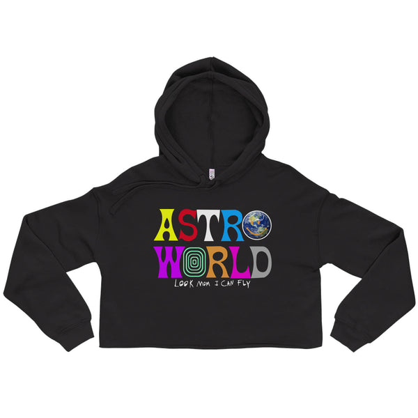 Astroworld Look Mom I Can Fly Cropped Hoodie