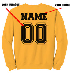 Customize - New Hufflepuff SEEKER Quidditch Team Unisex Crewneck Gold Sweatshirt (Adult)