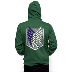 Attack on Titan Blue Ink Singeki no kyojin Unisex Pullover Hoodie - Meh. Geek