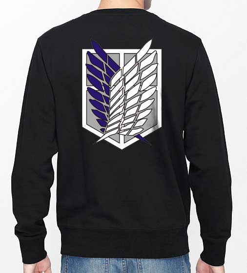 Attack on Titan Blue Ink On Back Singeki no Kyojin Unisex Crewneck Sweatshirt - Meh. Geek