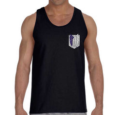 Attack on Titan Blue Ink POCKET On FRONT Singeki no Kyojin Men Tank Top
