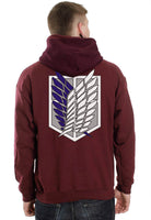 Attack on Titan Blue Ink On Back Singeki no Kyojin Unisex Pullover Hoodie - Meh. Geek - 2