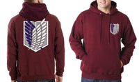 Attack on Titan Blue Ink Singeki no kyojin Unisex Pullover Hoodie - Meh. Geek - 1