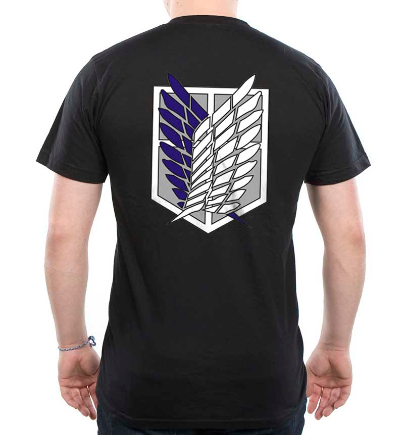 Attack on Titan Blue Ink On BACK Singeki no Kyojin Men T-shirt - Meh. Geek