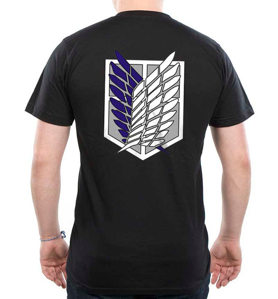 Attack on Titan Blue Ink On BACK Singeki no Kyojin Men T-shirt