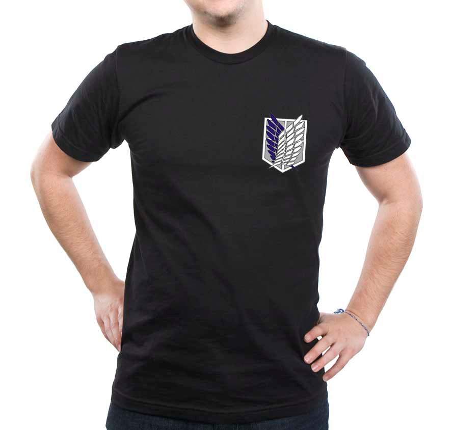 Attack on Titan Blue Ink POCKET Singeki no Kyojin Men T-shirt - Meh. Geek