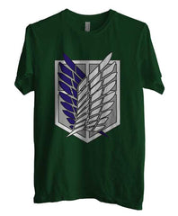 Attack on Titan Blue Ink Singeki no Kyojin Unisex Men T-shirt - Meh. Geek - 2