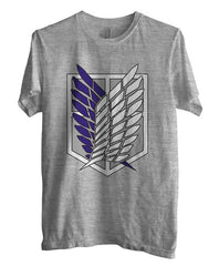 Attack on Titan Blue Ink Singeki no Kyojin Unisex Men T-shirt - Meh. Geek - 1