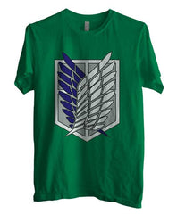 Attack on Titan Blue Ink Singeki no Kyojin Unisex Men T-shirt - Meh. Geek - 3