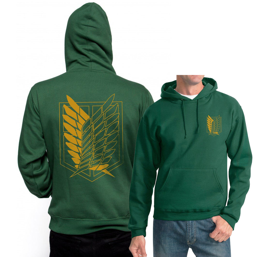 Attack on Titan Yellow Ink Singeki no kyojin front and back Unisex Pullover Hoodie Adult