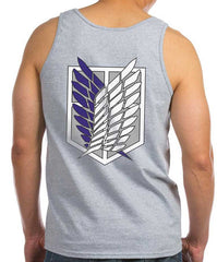 Attack on Titan Blue Ink Front And Back Singeki no Kyojin Men Tank Top - Meh. Geek - 3