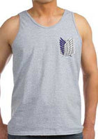Attack on Titan Blue Ink Front And Back Singeki no Kyojin Men Tank Top - Meh. Geek - 2