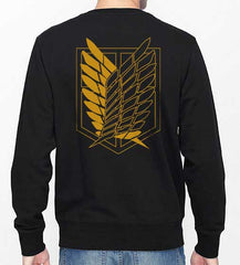 Attack on Titan YELLOW Ink On BACK And POCKET On Front Singeki no Kyojin Unisex Crewneck Sweatshirt - Meh. Geek - 2