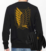 Attack on Titan YELLOW Ink On BACK And POCKET On Front Singeki no Kyojin Unisex Crewneck Sweatshirt - Meh. Geek - 1