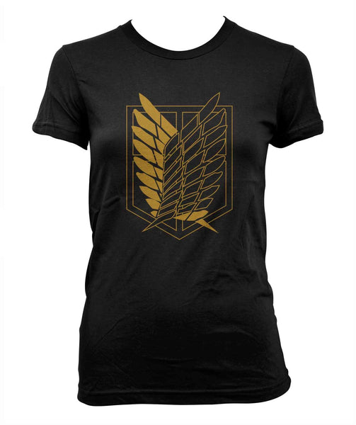 Attack on Titan YELLOW Ink On FRONT Shingeki no Kyojin Women T-shirt
