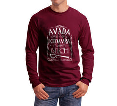 Avada Kedavra Bitch Magic Spell Muggles Wizard Long Sleeve T-shirt for Men - Meh. Geek - 3