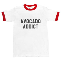 Avocado Addict Ringer Unisex T-shirt / tee