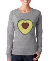 Avocado Love Long Sleeve Women T-shirt, Women Tee