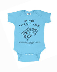 Baby Of House Stark Sleeples nights And Dirty Nappies Are Coming Baby Onesies - Meh. Geek - 2