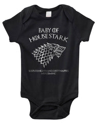 Baby Of House Stark Sleeples nights And Dirty Nappies Are Coming Baby Onesies - Meh. Geek - 1