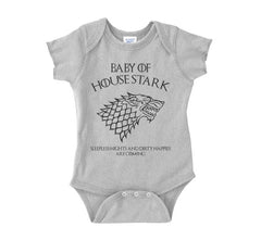 Baby Of House Stark Sleeples nights And Dirty Nappies Are Coming Baby Onesies - Meh. Geek - 3
