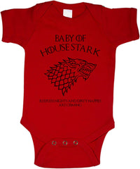 Baby Of House Stark Sleeples nights And Dirty Nappies Are Coming Baby Onesies - Meh. Geek - 5
