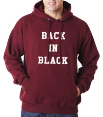 Back In Black Unisex Pullover Hoodie - Meh. Geek - 1