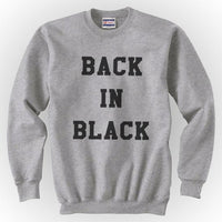 Back In Black Unisex Crewneck Sweatshirt - Meh. Geek - 3