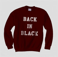 Back In Black Unisex Crewneck Sweatshirt - Meh. Geek - 4