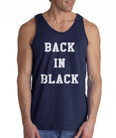 Back In Black Men Tank Top - Meh. Geek - 3