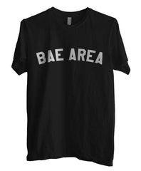 Bae Area Flag Map White Ink Unisex Men T-shirt - Meh. Geek - 2