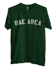 Bae Area Flag Map White Ink Unisex Men T-shirt - Meh. Geek - 3