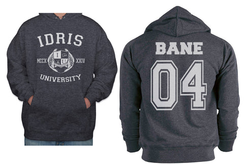 Bane 04 Idris University Unisex Pullover Hoodie Dark Heather