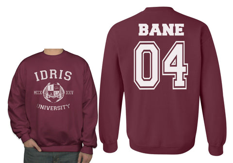 Bane 04 Idris University Unisex Crewneck Sweatshirt Maroon (Adult)