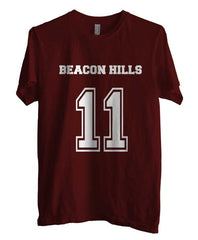 Beacon Hills Lacrosse Wolf 11 Unisex Men T-shirt - Meh. Geek - 1