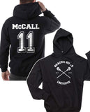 Mccall 11 on back Beacon hills lacrosse Logo Cross Pullover Hoodie
