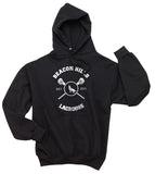 Hale 00 on back Beacon hills lacrosse Logo Teen Wolf Pullover Hoodie - Meh. Geek