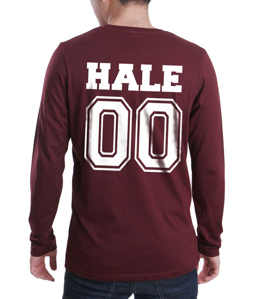 Hale 00 White Ink on Back Beacon hills lacrosse Long Sleeve T-shirt for Men - Meh. Geek