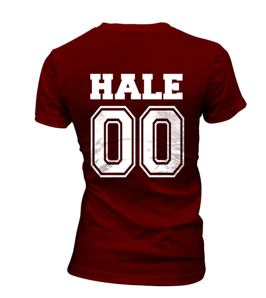 Hale 00 on Back Beacon Hills Lacrosse Wolf Women T-shirt - Meh. Geek