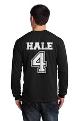 Hale 4 On BACK Beacon hills lacrosse On FRONT Long Sleeve T-shirt for Men - Meh. Geek - 2