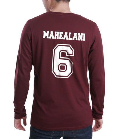 Mahealani 6 White Ink on Back Beacon hills lacrosse Long Sleeve T-shirt for Men - Meh. Geek