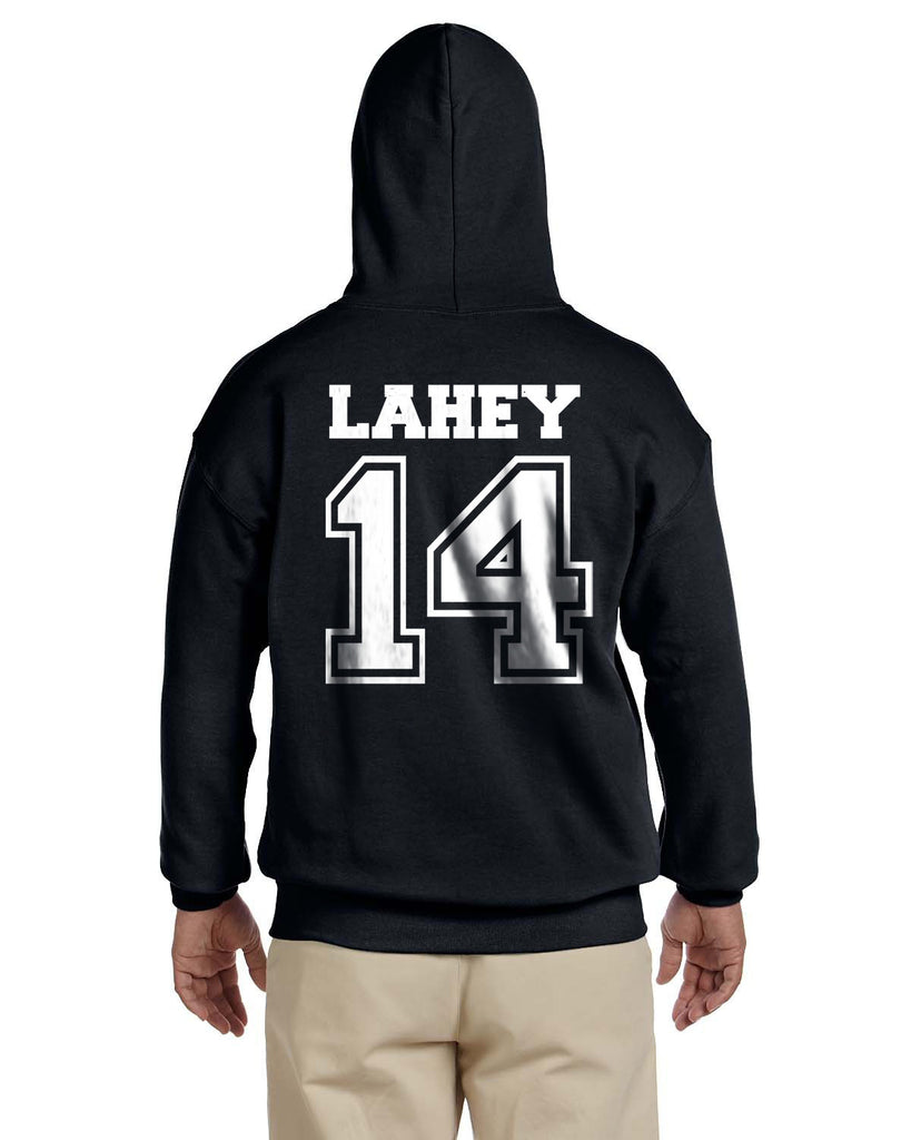 Lahey 14 White Ink on Back Beacon hills lacrosse Unisex Pullover Hoodie - Meh. Geek