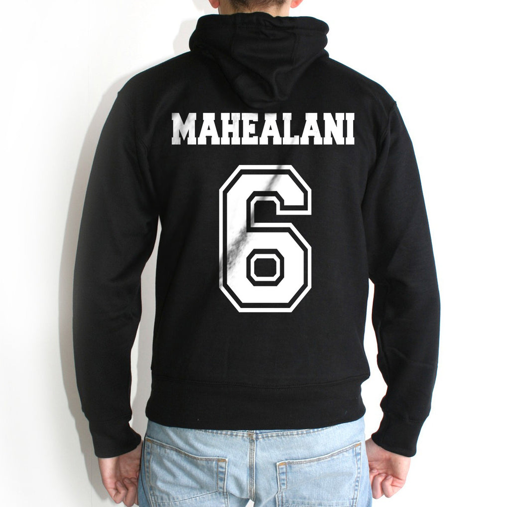 Mahealani 6 White Ink on Back Beacon hills lacrosse Pullover Hoodie - Meh. Geek