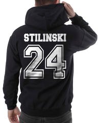 Stilinski 24 White Ink on Back Beacon hills lacrosse Pullover Hoodie - Meh. Geek