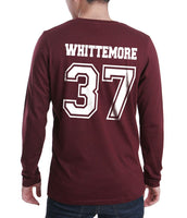 Whittemore 37 White Ink on Back Beacon hills lacrosse Long Sleeve T-shirt for Men - Meh. Geek