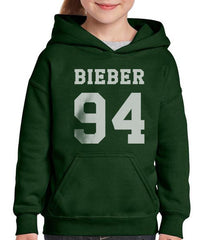 Beiber 94 on Front Kid / Youth Hoodie